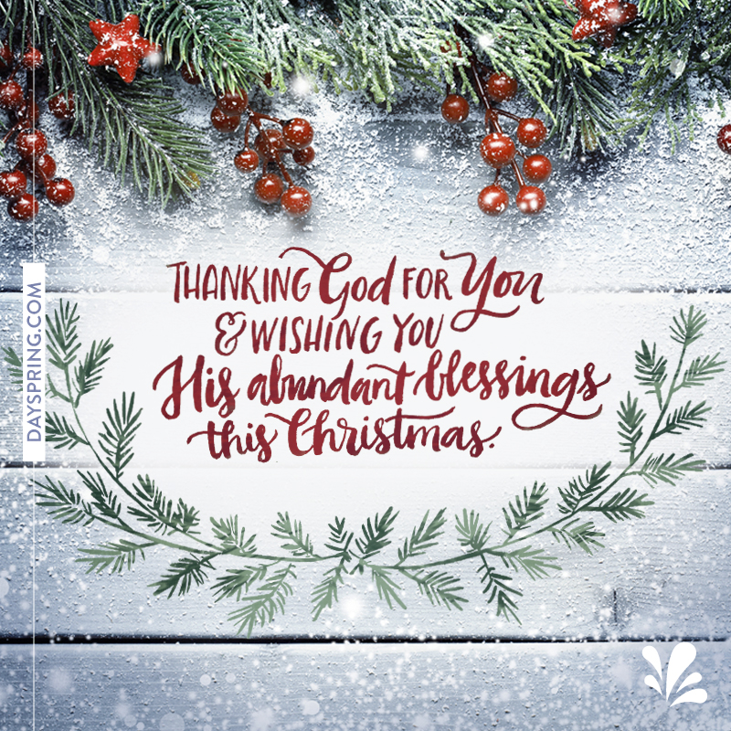abundant blessings christmas 472k shares email - Christmas E Cards