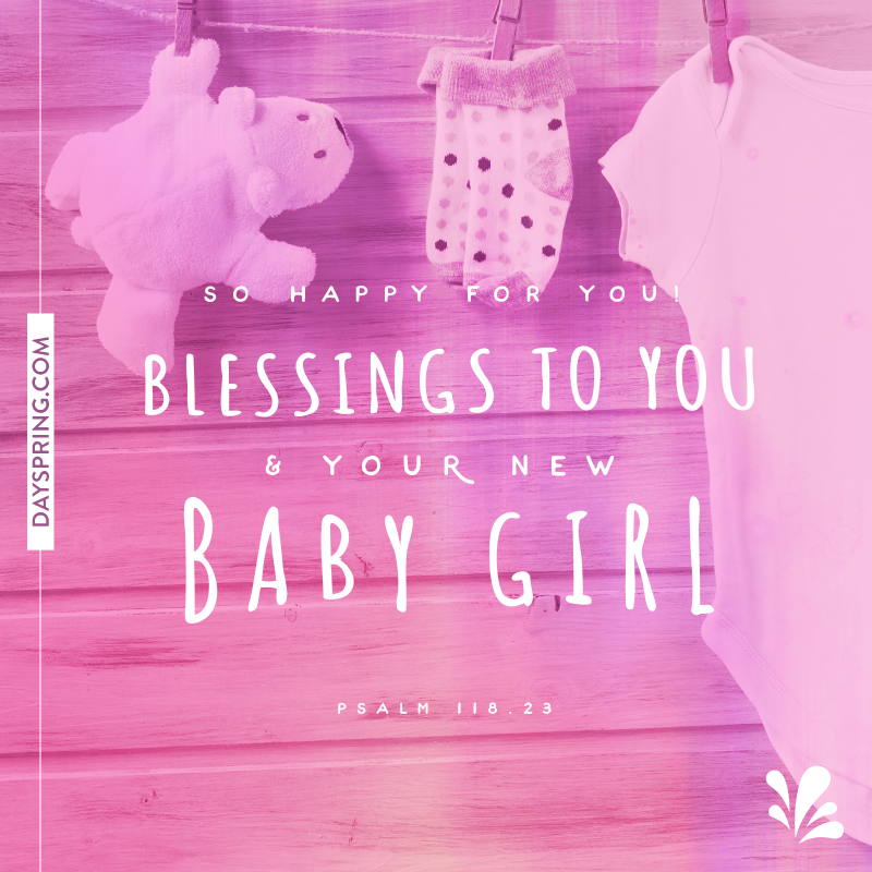 Baby ecards dayspring new baby girl m4hsunfo