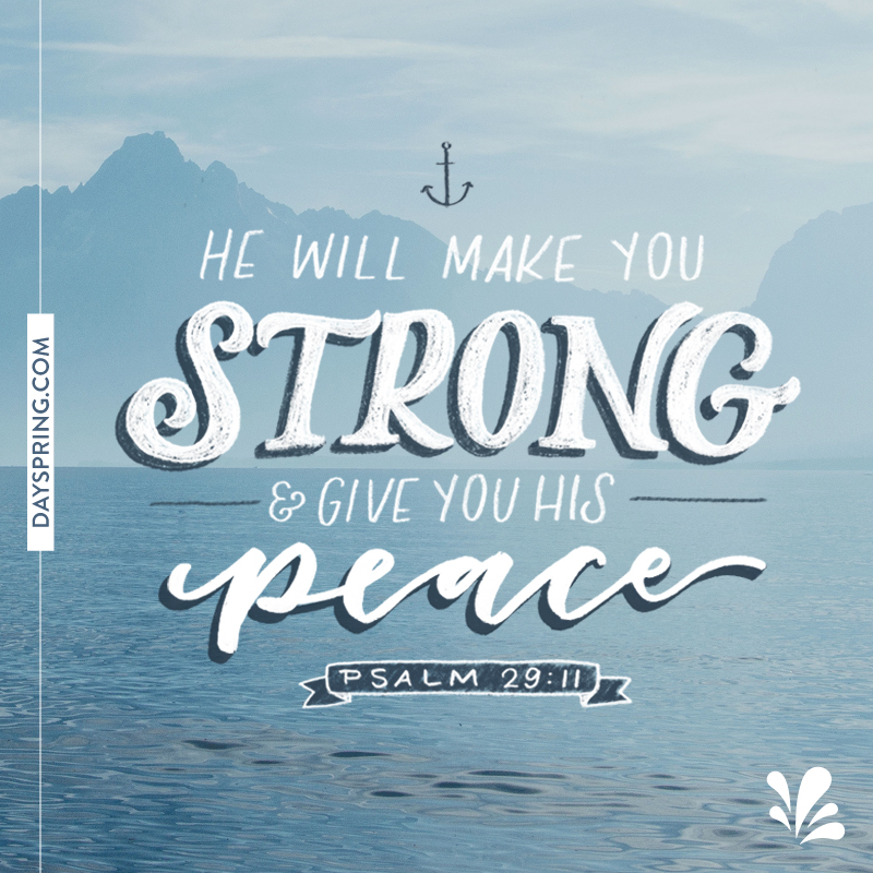 Shareable Scripture - He Will Make You Strong