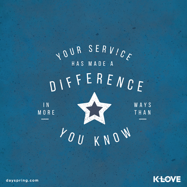 Your Service Mades a Difference