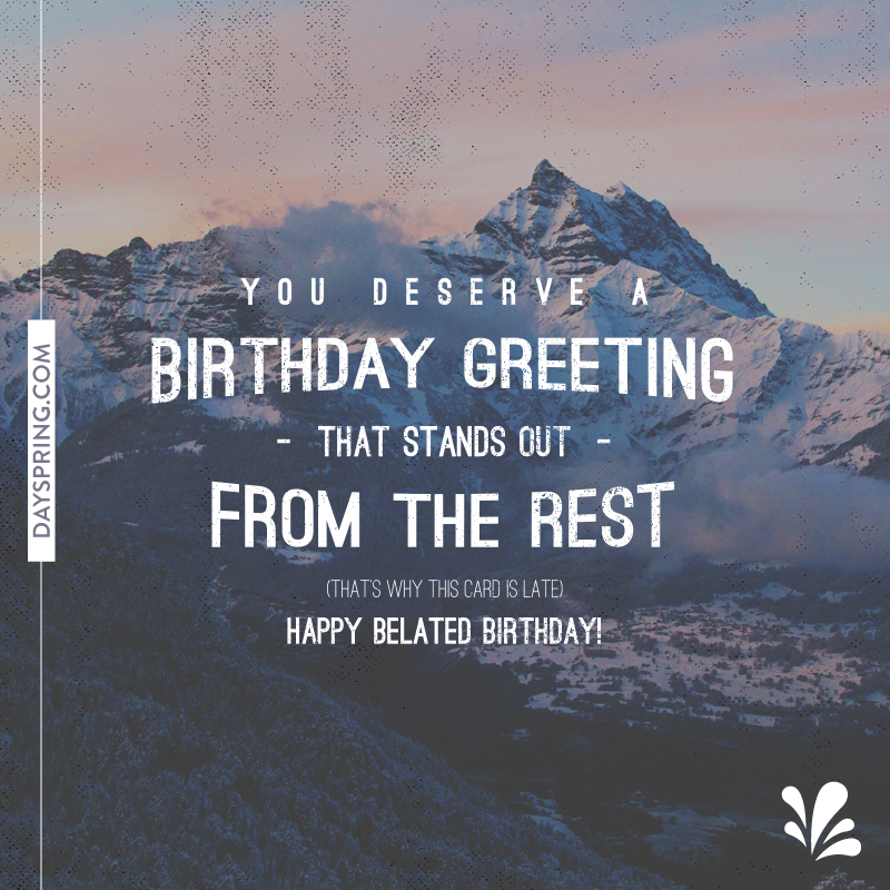 Birthday Greeting That Stands Out